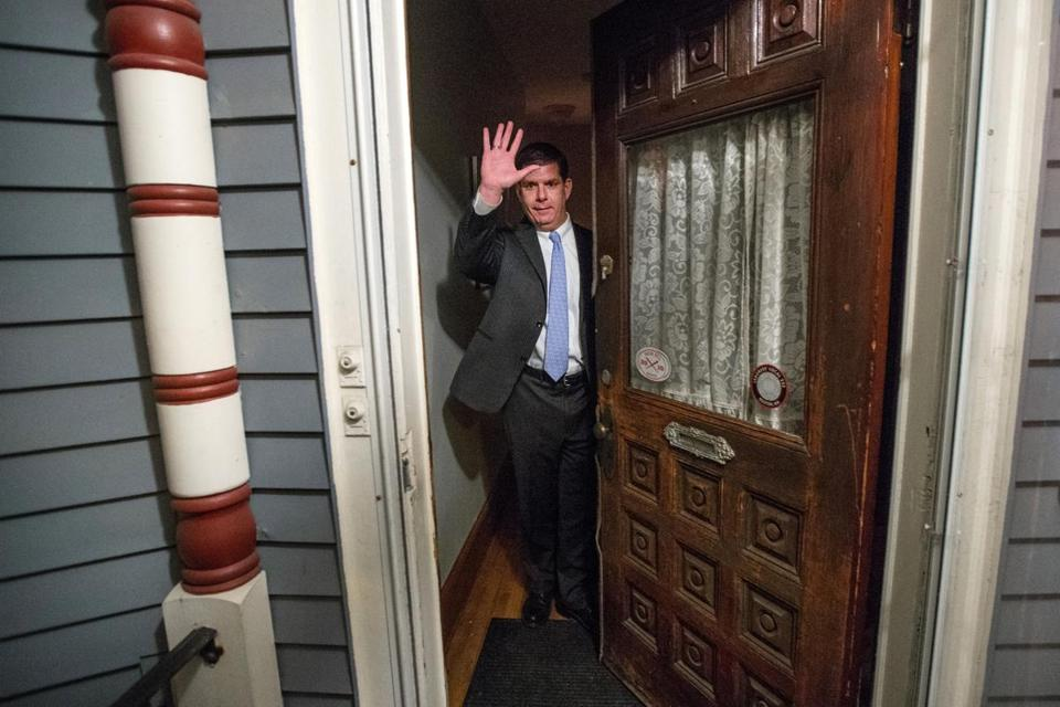Mayor Marty Walsh at his Savin Hill home in 2013.